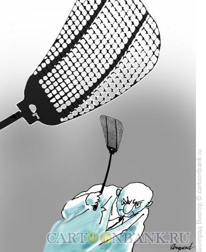 Карикатура: Мухобойка, Богорад Виктор