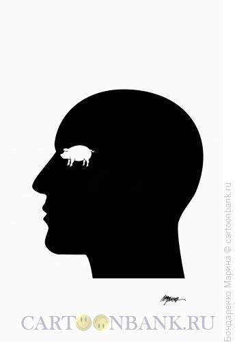 Карикатура: Глаз- Свинья, Бондаренко Марина