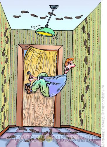 Карикатура: Выхода нет!, Мельник Леонид