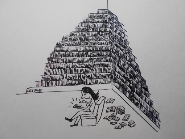 Карикатура: Чтение, Петров Александр