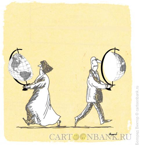 Карикатура: Развод и делёж, Богорад Виктор