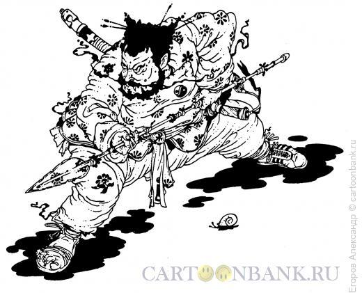 Карикатура: боец, Егоров Александр