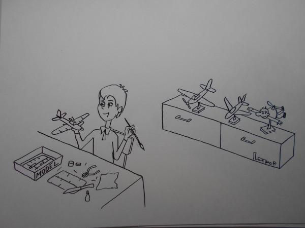 Карикатура: моделист, Петров Александр