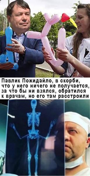 Мем: Павел Пожигайло надувает шарики, Журавский Шурик