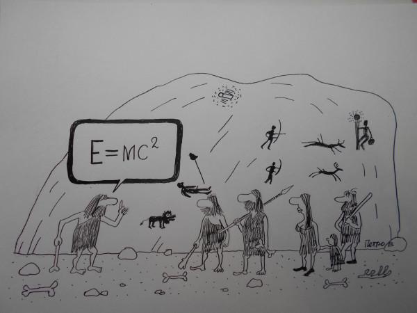 Карикатура: Ученые дикари, Петров Александр