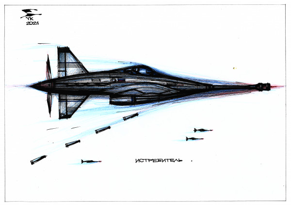 Карикатура: Истребитель ., Юрий Косарев