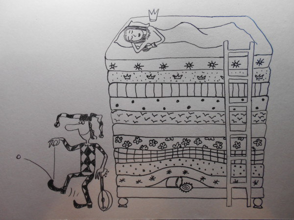 Карикатура: Принцесса на горошине, Петров Александр