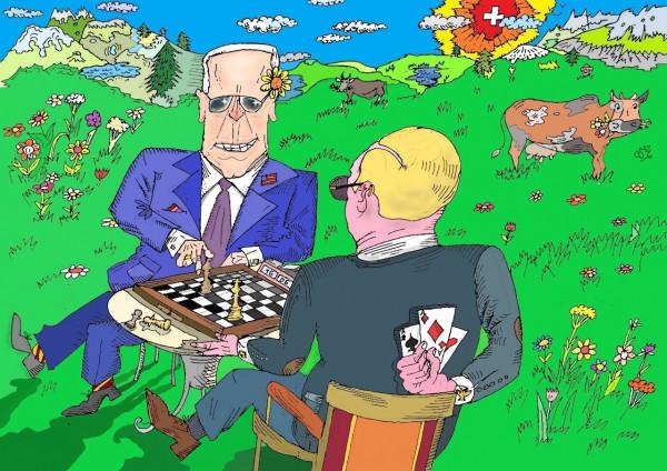 Карикатура: Женевский гамбит, Ипполит Сбодунов