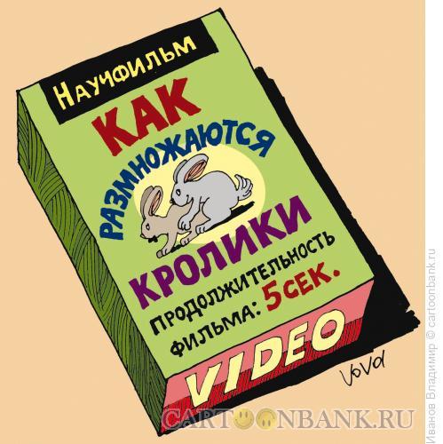 Карикатура: Как размножаются кролики, Иванов Владимир