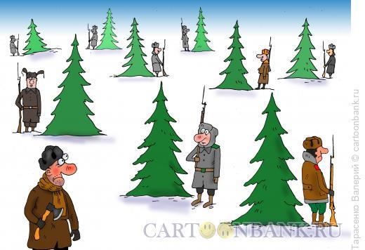 Карикатура: На страже, Тарасенко Валерий