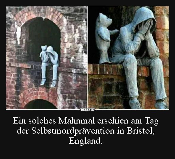 Мем: этот мемориал появился в Бристоле, в день посвященном теме предотвращения самоубийств., oy