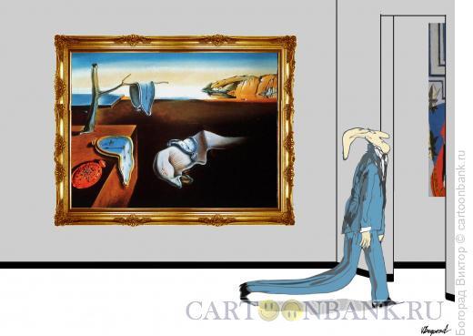 Карикатура: Влияние картины на посетителя, Богорад Виктор