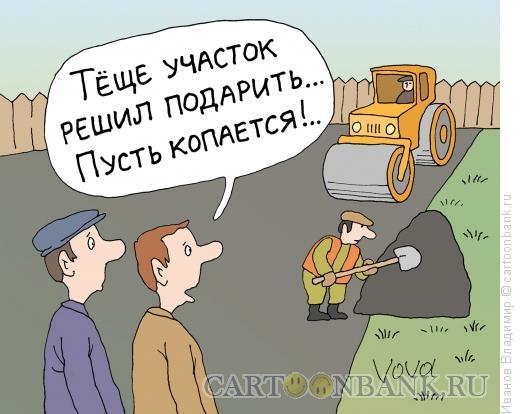 Карикатура: Огород для тещи, Иванов Владимир