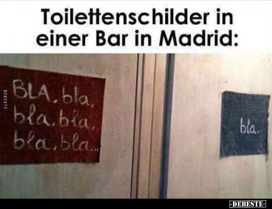 Мем: знаки и надписи на туалетах в одном мадридском баре
