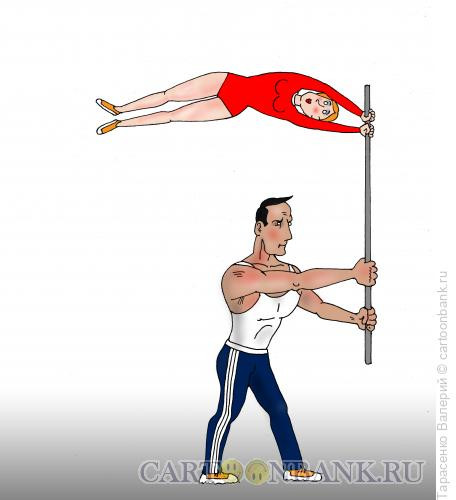 Карикатура: Спортсмен на празднике, Тарасенко Валерий