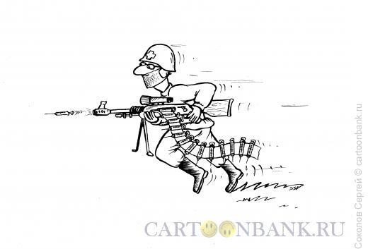 Карикатура: на войне с вирусом, Соколов Сергей