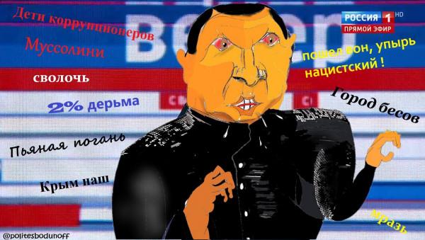 Карикатура: Всеединство Владимира Соловьёва, Ипполит Сбодунов