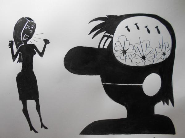 Карикатура: Мужчина и женщина(Женщина и мужчина), Петров Александр