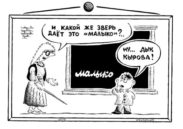Карикатура: Дураку и грамота - во вр...ёт, Giptopotam