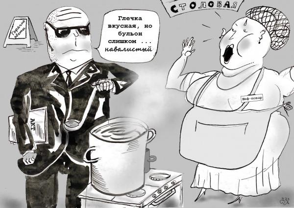 Карикатура: Дегустация, Ипполит Сбодунов