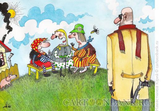 Карикатура: Бабки и киллер, Наместников Юрий
