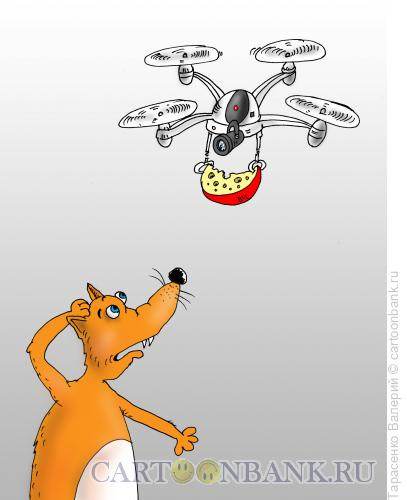 Карикатура: Лиса и сыр, Тарасенко Валерий