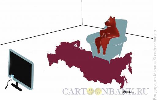 Карикатура: Медведь, Карта, Бондаренко Марина