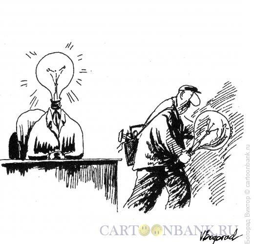Карикатура: Монтер, Богорад Виктор
