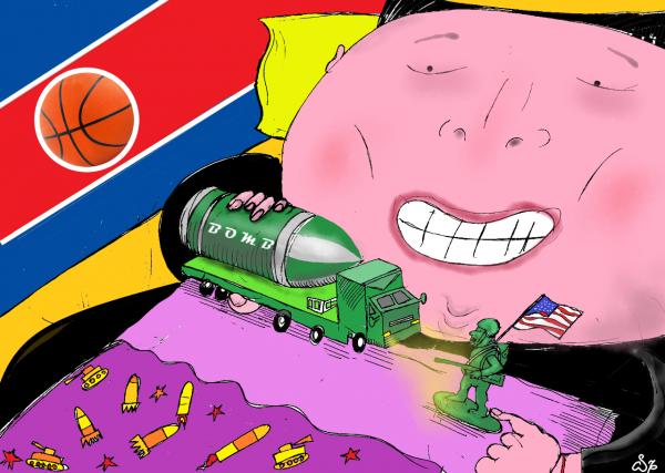 Карикатура: Человек-ракета, который любит баскетбол, Ипполит Сбодунов