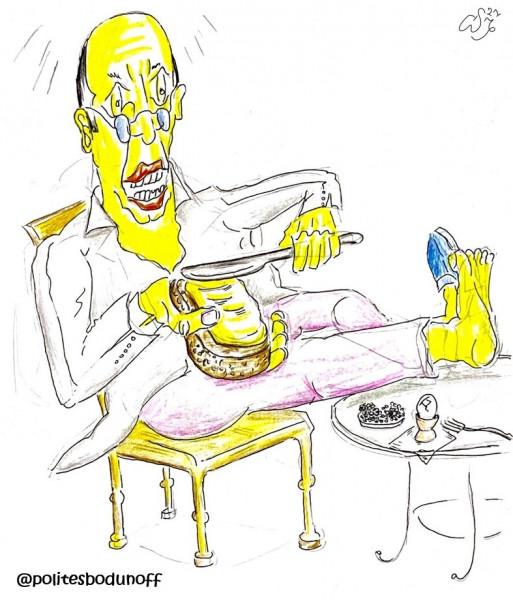 Карикатура: Маслом вверх, Ипполит Сбодунов