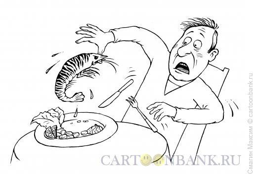 Карикатура: Хищная креветка, Смагин Максим