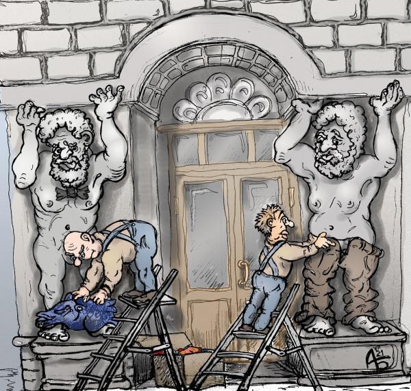 Карикатура: Борьба за нравственность, backdanov