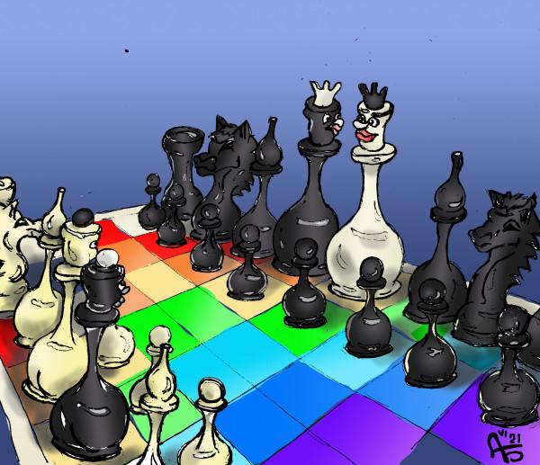 Карикатура: Гей-шахматы, backdanov