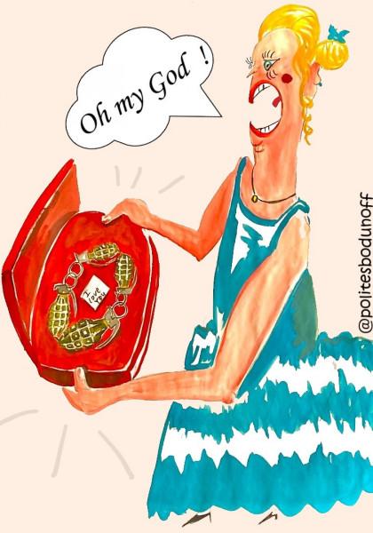 Карикатура: Гранатовый браслет: альтернативная история, Ипполит Сбодунов