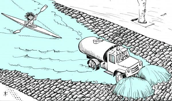Карикатура: Изобретательная устремленность, Юрий Санников