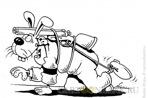Карикатура: Маскировка охотника, Кийко Игорь