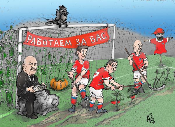 Карикатура: Возродим колхозы!, backdanov