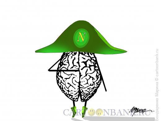 Карикатура: МОЗГ -  НАПОЛЕОН, Бондаренко Марина