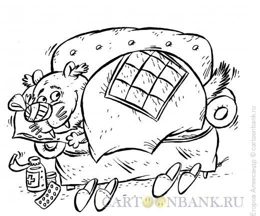 Карикатура: больная собака, Егоров Александр