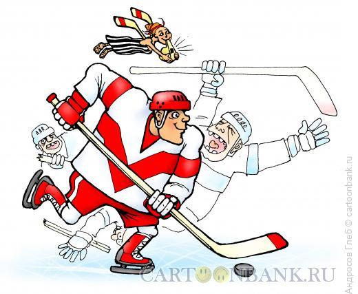 Карикатура: Вдохновение хоккеиста, Андросов Глеб