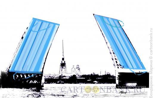 Карикатура: Мосты Спб Ковид, Бондаренко Марина