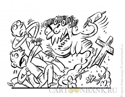 Карикатура: неожиданная встреча, Егоров Александр