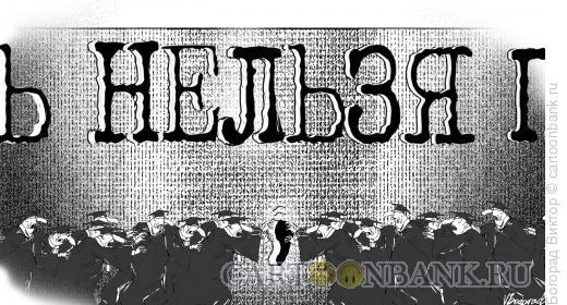 Карикатура: Борьба за место запятой, Богорад Виктор