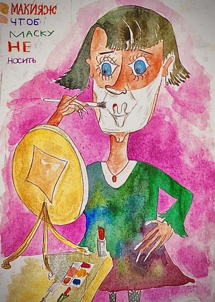 Карикатура: Экономная модница, Ипполит Сбодунов