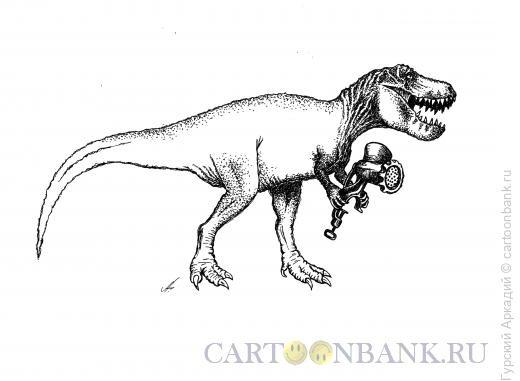 Карикатура: динозавр, Гурский Аркадий