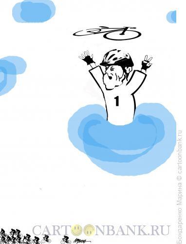 Карикатура: Велосипед, Бог, Участник, Бондаренко Марина