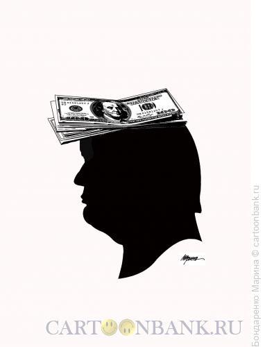 Карикатура: Трамп Деньги Прическа, Бондаренко Марина