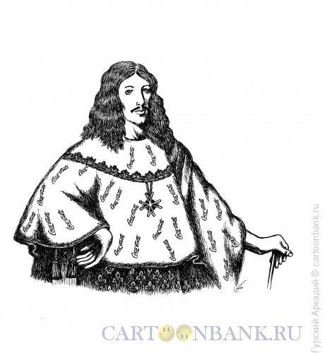 Карикатура: король, Гурский Аркадий