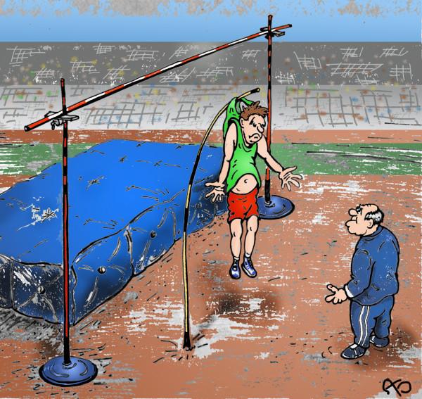 Карикатура: Заход на рекорд, backdanov