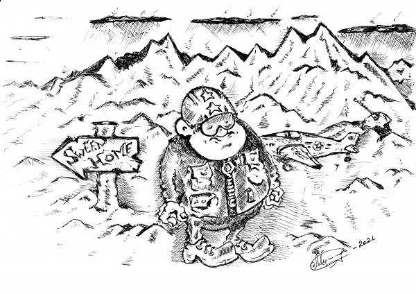 Карикатура: Прощайте скалистые горы...., Константин Мухоморов
